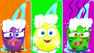 Wash Your Hands Story - Funny animation for kids   Op & Bob