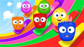 Learn colors Red and Yellow - Funny Cartoons for Kids | Op & Bob