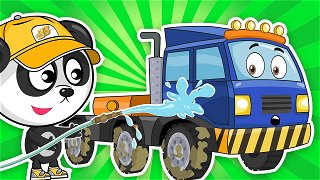 Excavator, truck and tractor unit at a construction site - Car Videos For Kids | Be-Be's Workshop