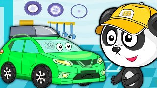 SUV got into trouble on the road - Funny Cartoons | Be-Be's Workshop