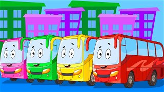 How the bus got a job - Bus cartoon. Vehicles for Kids | Be-Be's Workshop