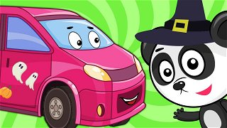 The minibus dress up for Halloween - bus cartoon | Be-Be's Workshop