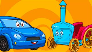 The Small car With A Flat Tire - Online Cartoons   Be-Be's Workshop