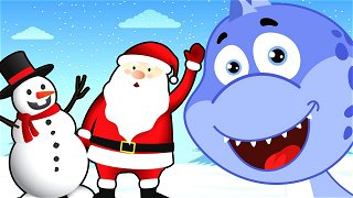 Happy New Year Snowman and Santa Claus - Videos For Kids | Dinosaur Danny