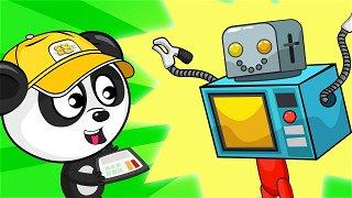 Panda Builds a transformer - Online Cartoons | Be-Be's Workshop