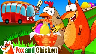 The Wheels on the Bus - Cartoons Online | Fox and Chicken