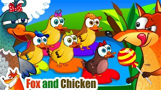 Five little Ducks - Baby cartoon | Fox and Chicken