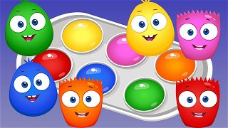 Learn Colors Orange and Yellow - Educational Videos | Op & Bob