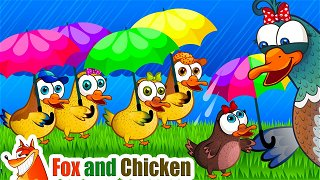 One Two Three Four Five - Cartoons for kids   Fox and Chicken