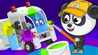 Road marking truck - cartoons in english | Be-Be's Workshop