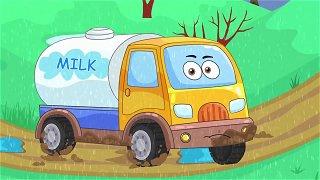 The milk tanker - Truck cartoon. Videos For Children | Be-Be's Workshop