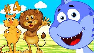 Learn animals Tiger and lion - new cartoon | Dinosaur Danny