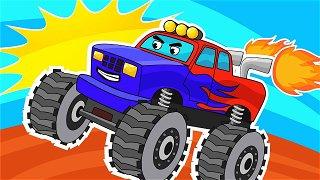 Monster truck show - Videos For Kids. Monster truck cartoon | Be-Be's Workshop