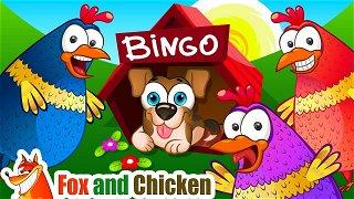 Bingo song - Kids cartoon. Children's rhymes | Fox and Chicken