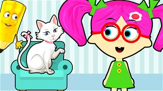 How To Draw Cat - cartoon videos | Seona and Oly