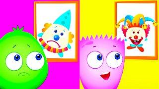 Cartoons Op and Bob - Cheerful & Sad