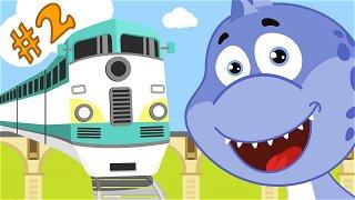 Trains for kids - Educational cartoons   Dinosaur Danny