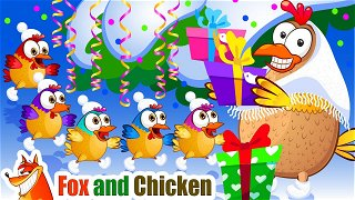 Jingle Bells - Cartoons in English. Popular Nursery Rhymes | Fox and Chicken