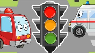 Road safety traffic light and Fire Truck - Educational cartoons | Be-Be's Workshop