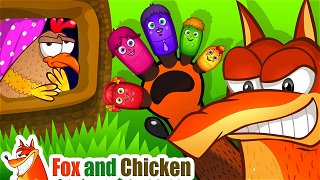 Finger Family song - Cartoons for kids. Children's rhymes | Fox and Chicken