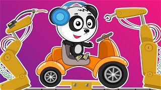 The car factory - kids cartoon   Be-Be's Workshop