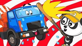 Сoncrete mixer truck got into trouble - truck cartoon | Be-Be's Workshop