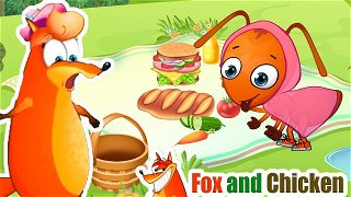 The Ants Go Marching - Best Caroons. Kids Songs & Nursery Rhymes   Fox and Chicken