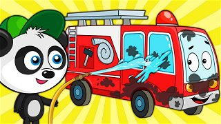 Car Cartoon about the Police car, Fire truck and Ambulance - Vehicles for Kids   Be-Be's Workshop