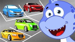 Parking for cars - Vehicles for Kids | Dinosaur Danny