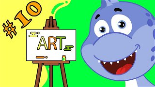 Learning the colors green and yellow - Cartoons Online | Dinosaur Danny