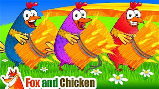 The Farmer in the Dell - Cartoon videos. Songs for children | Fox and Chicken