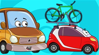A little car is preparing for summer vacation - cartoon about cars   Be-Be's Workshop