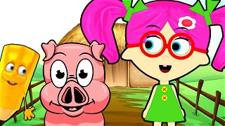 How To Draw Pig - cartoons in english | Seona and Oly